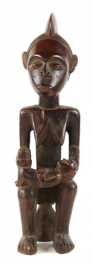 STYLE OF MATERNITY FIGURE - CARVED WOOD