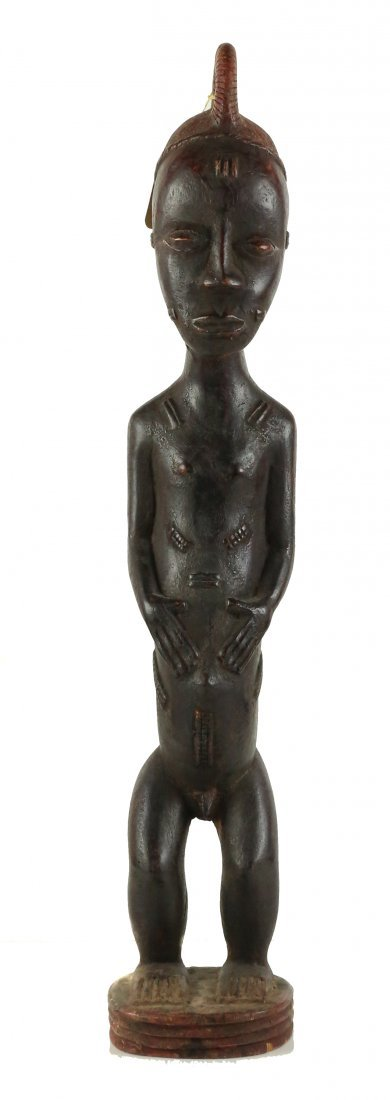 STYLE OF MALE ANCESTRAL FIGURE - WOOD