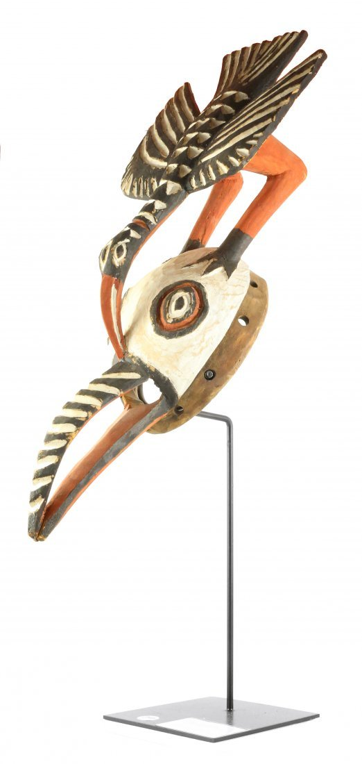 STYLE OF CEREMONIAL DANCE MASK WOOD WITH KAOLIN