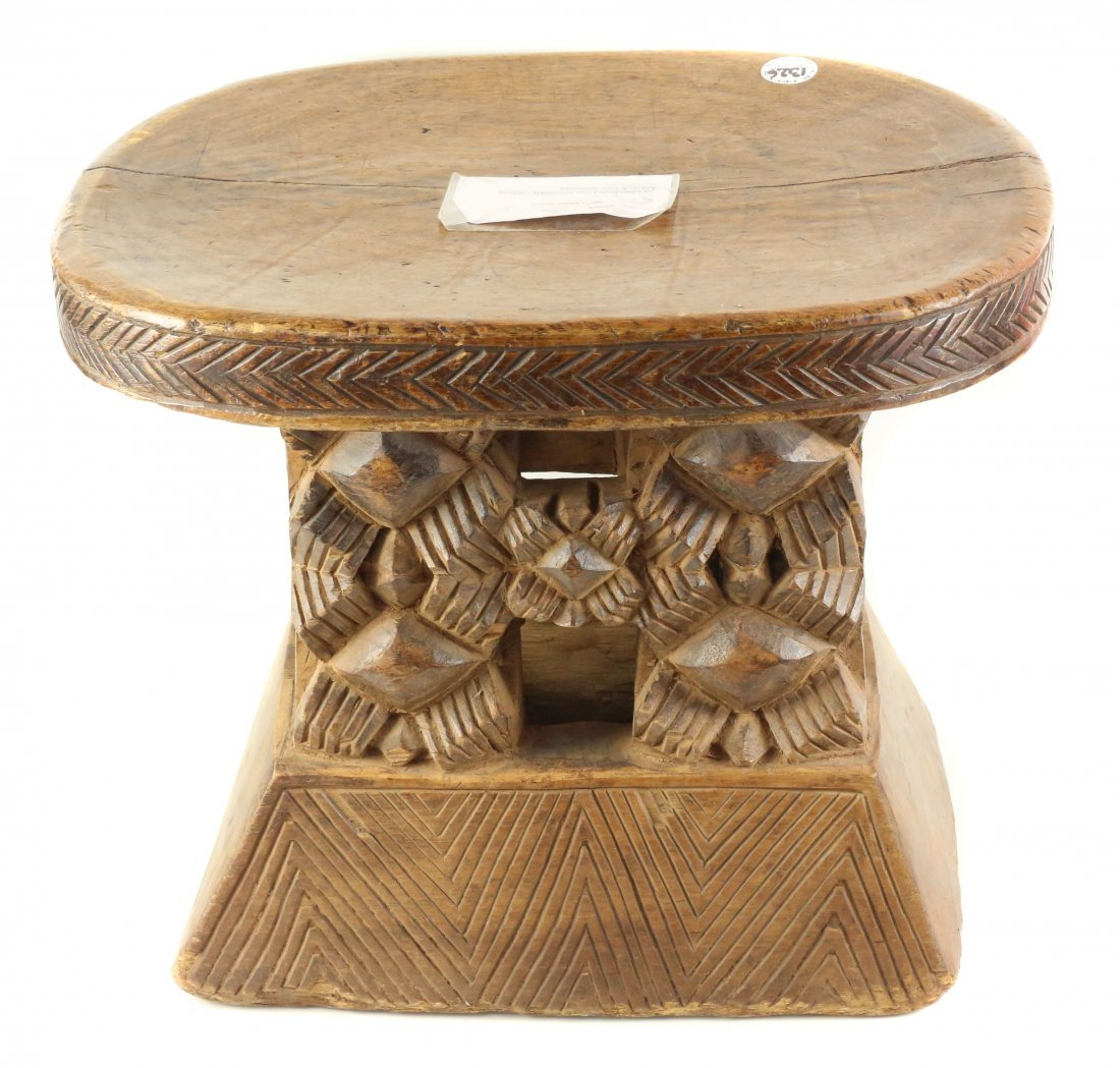 STYLE OF ROYAL CEREMONIAL STOOL - WOOD