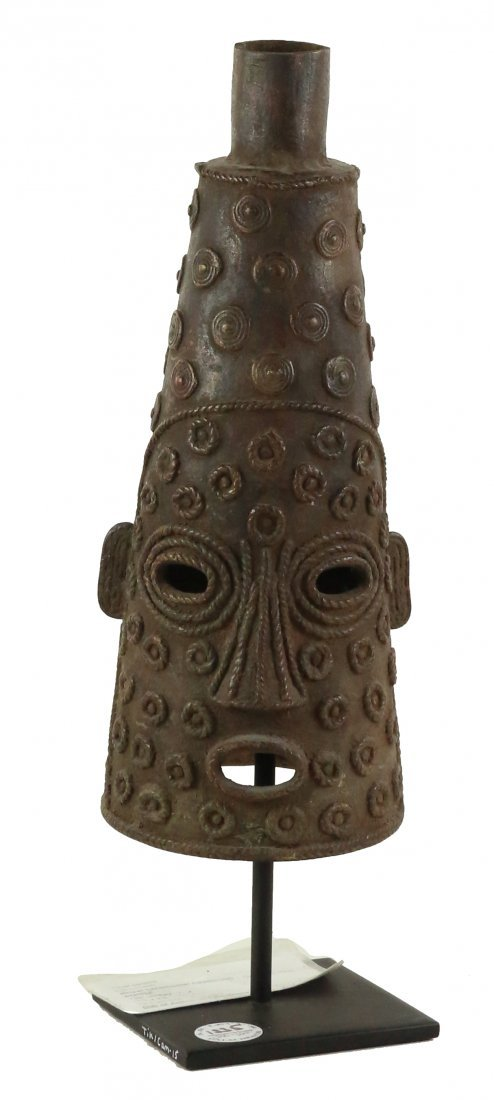 STYLE OF ROYAL CEREMONIAL HEADDRESS - LOST WAX CAST