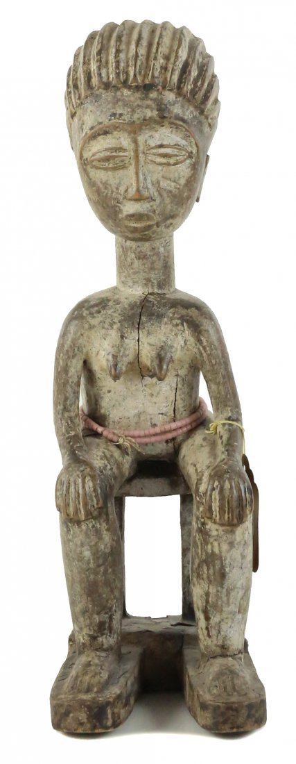 STYLE OF FEMALE ANCESTRAL FIGURE - WOOD