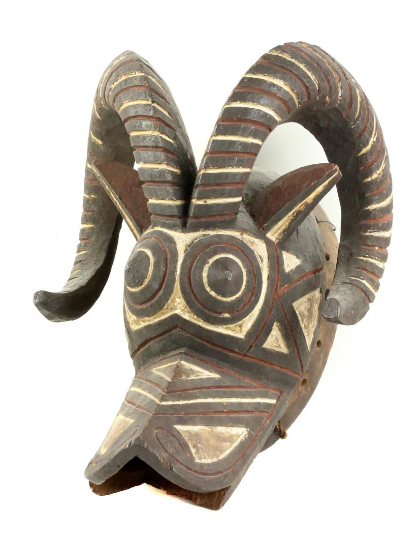 STYLE OF CEREMONIAL DANCE MASK IN FORM OF BUSH COW