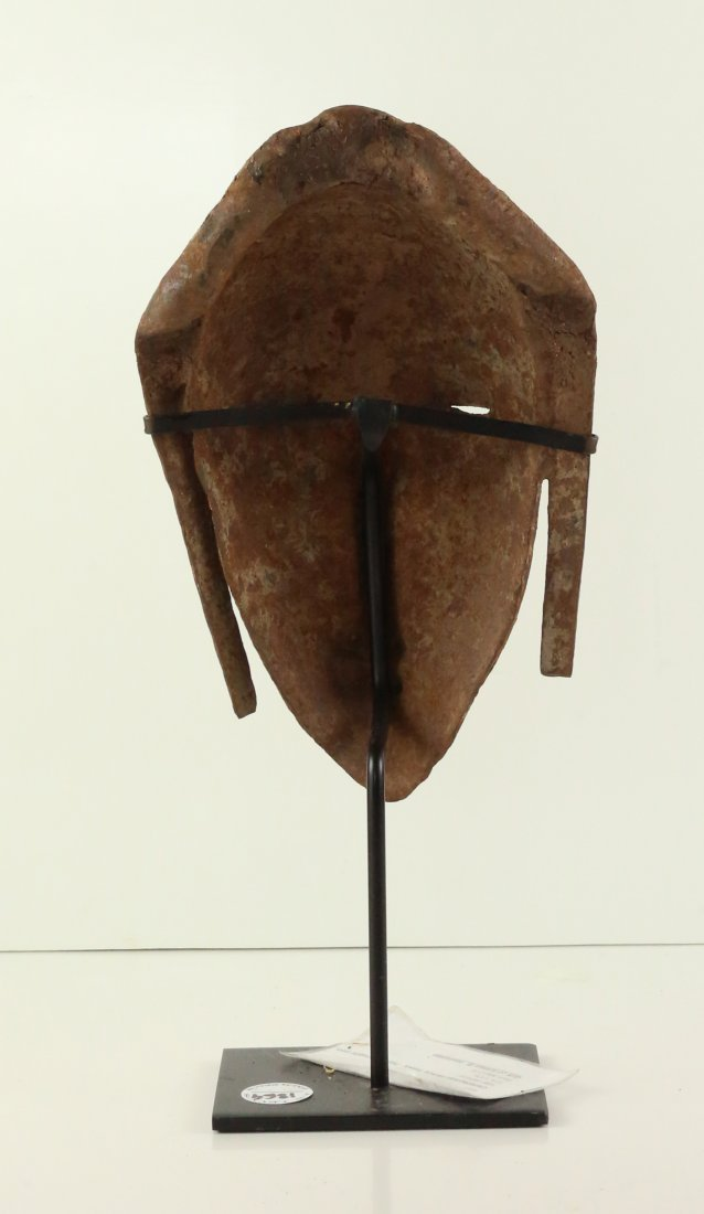 STYLE OF CEREMONIAL DANCE MASK - HAND-WROUGHT IRON