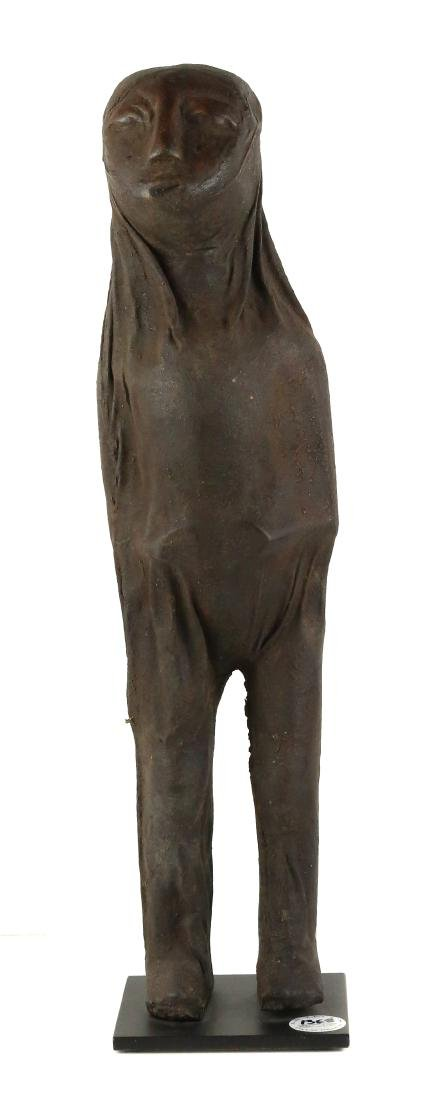 STYLE OF FEMALE MEDICINE FIGURE - OF CARVED WOOD