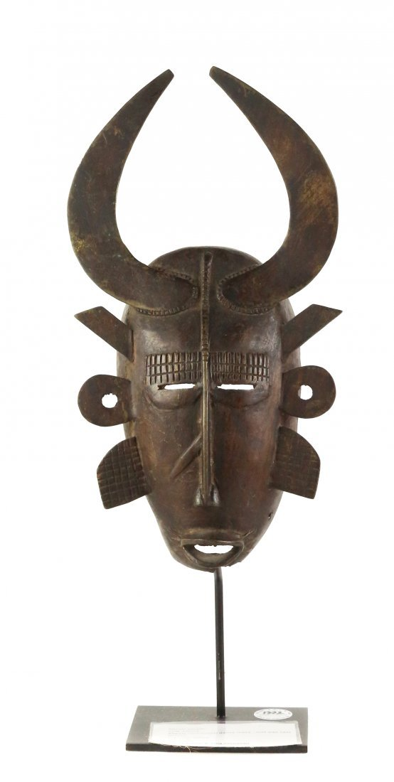 STYLE OF KEPELE CEREMONIAL DANCE MASK - LOST WAX CAST