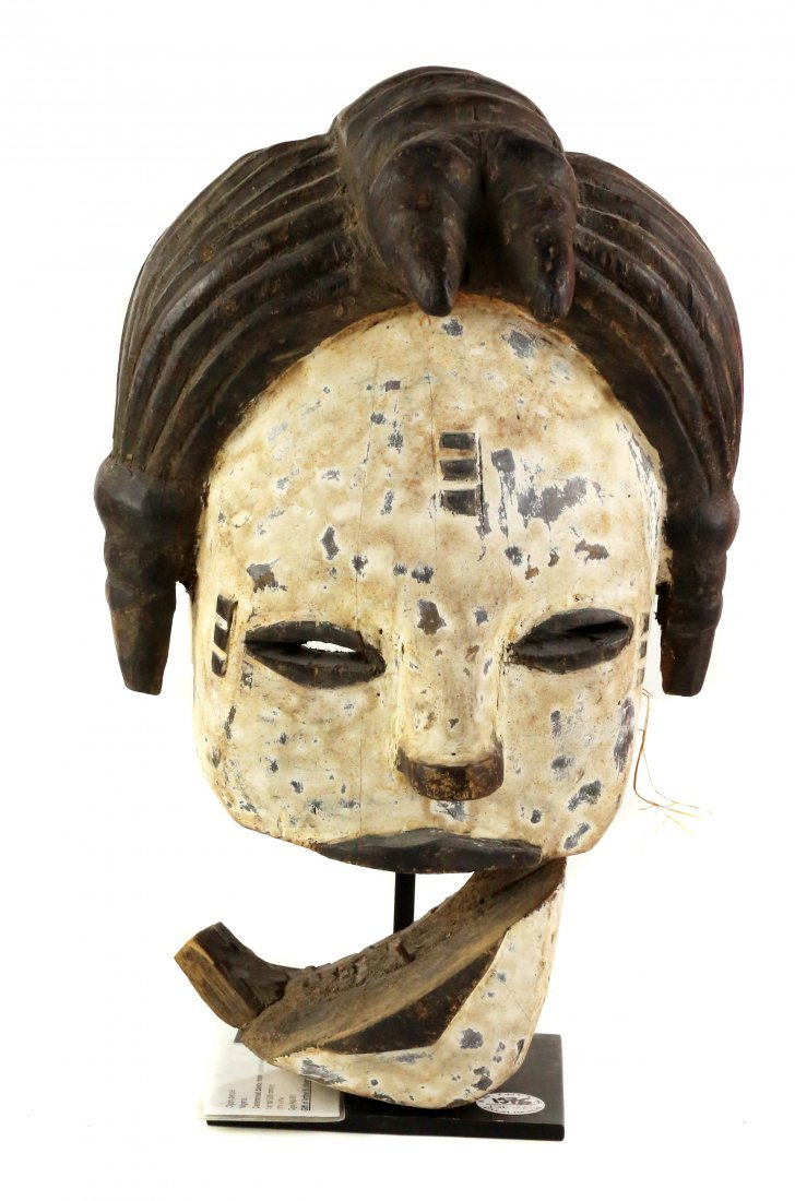 STYLE OF CEREMONIAL DANCE MASK - CARVED WOOD