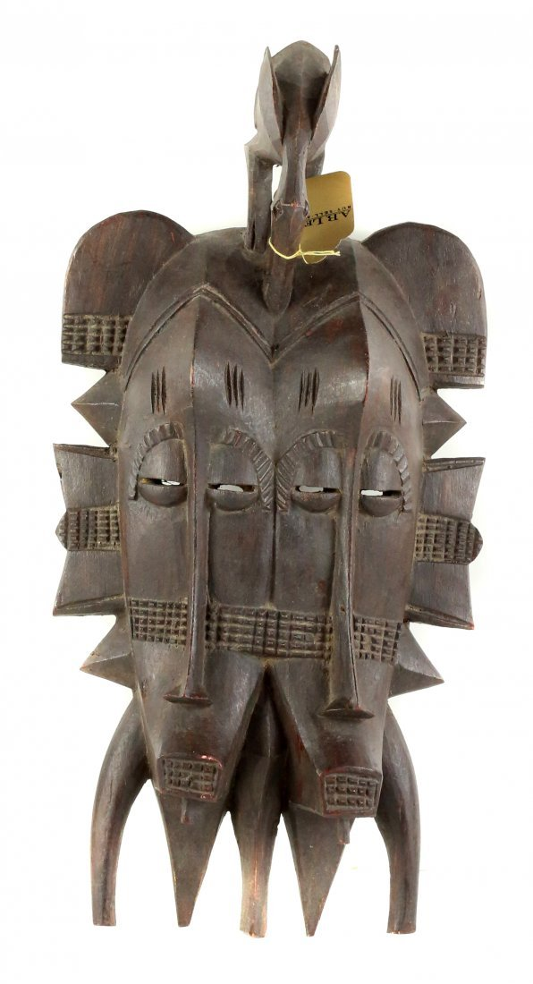 STYLE OF KEPELE CEREMONIAL DANCE MASK - CARVED WOOD