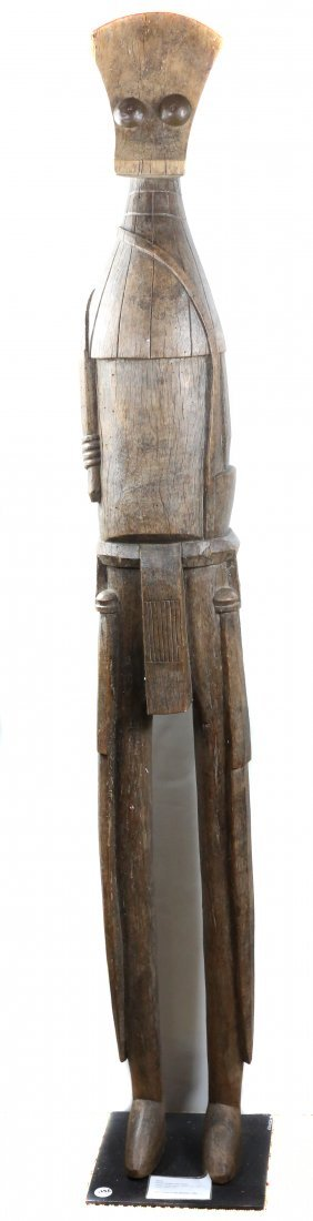 STYLE OF VILLAGE GUARDIAN FIGURE - WOOD