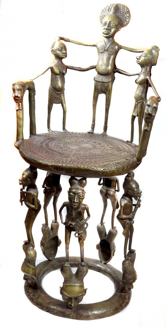 ROYAL FON'S THRONE CHAIR - CAST BRONZE