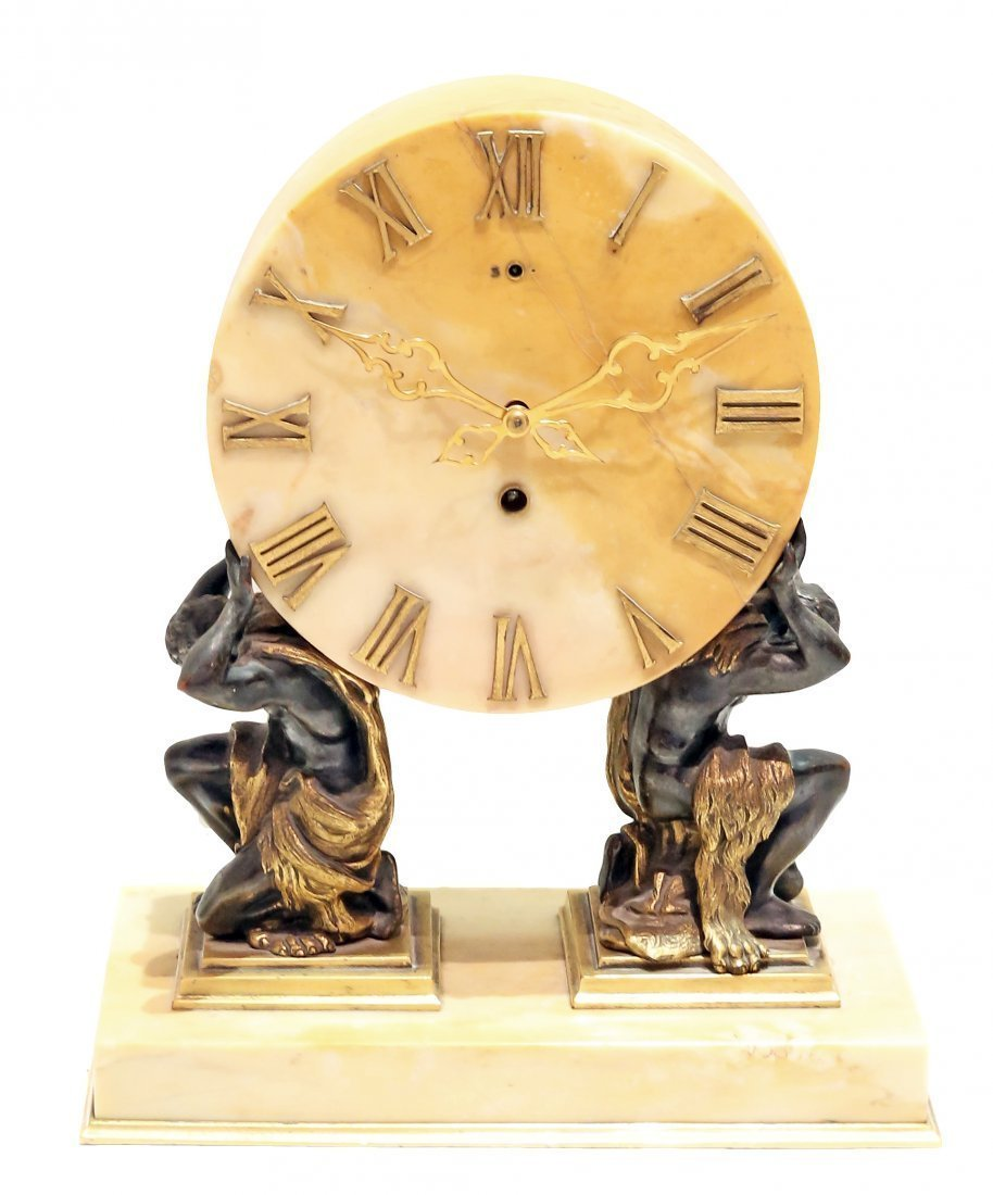 EDWARD F. CALDWELL MANTEL CLOCK NEW YORK CIRCA 1900
