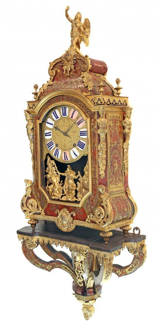FRENCH REGENCE BOULLE INLAID ORMOLU BRACKET CLOCK