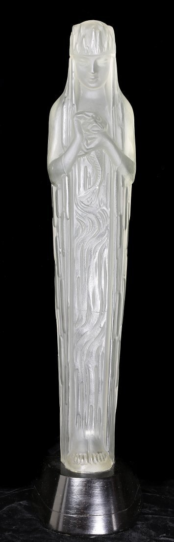 RENE LALIQUE (1860-1945),large and important statuette
