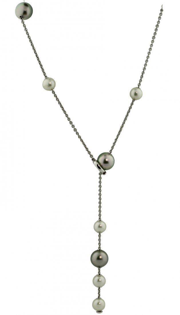 Mikimoto, 18K Gold and Cultured Pearl Necklace