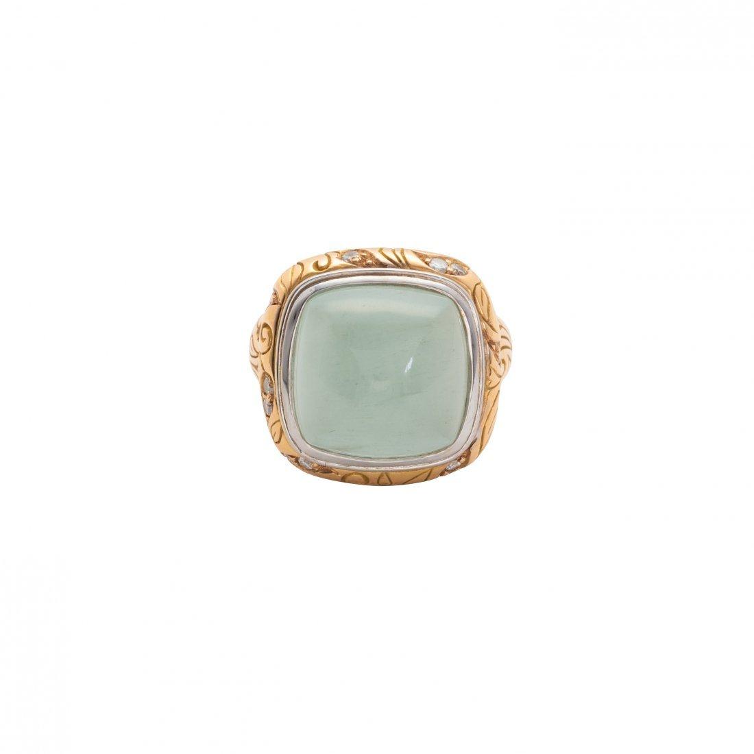 Seiden-Gang, 18 karat Gold and Chalcedony Ring