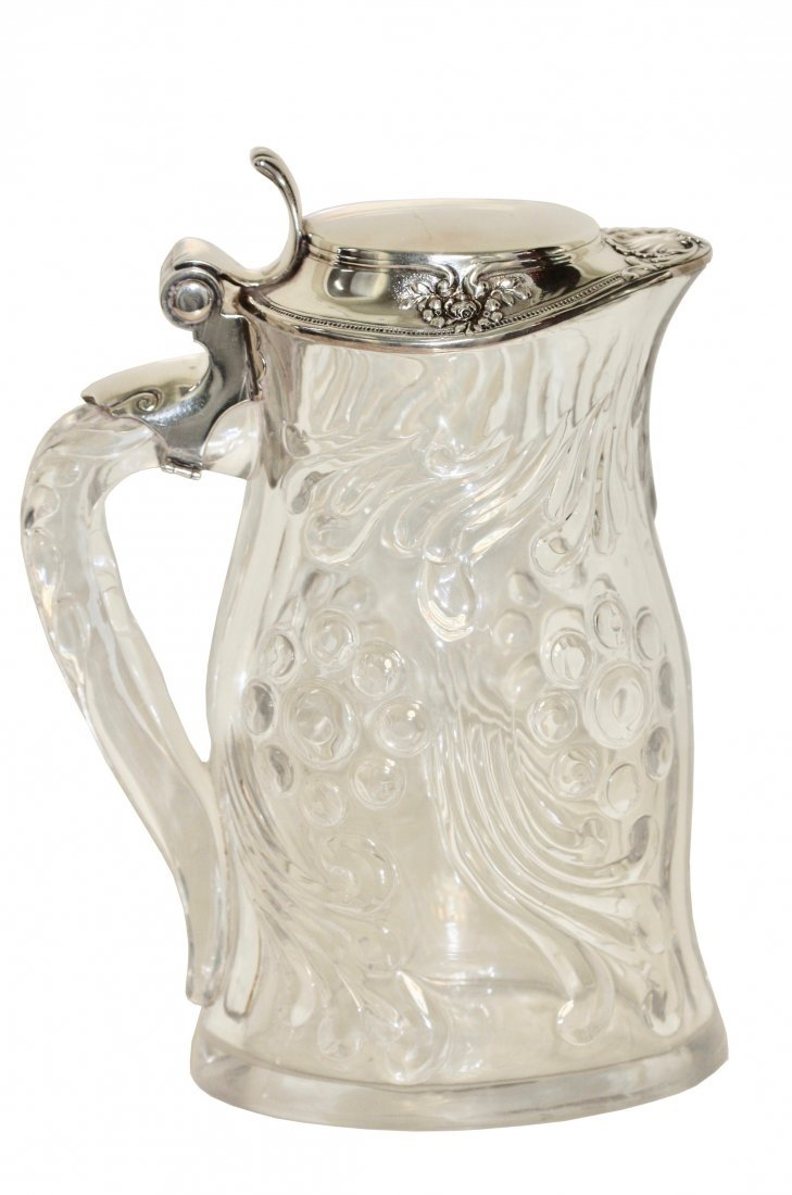 A Tiffany Silver Mounted Pitcher