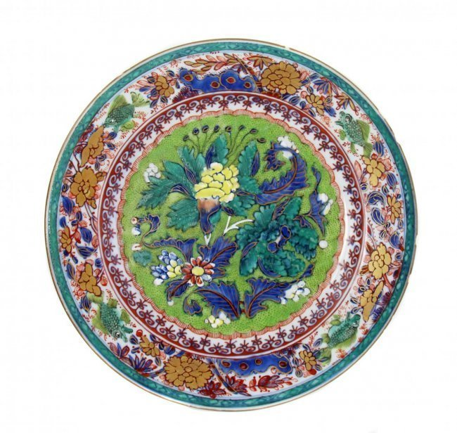 FINE BLUE AND WHITE PORCELAIN PLATE, CHINESE, 18TH CENT
