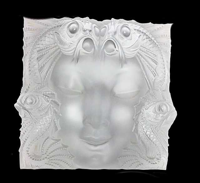 "LALIQUE FRANCE, 20TH CENTURY RARE AND LARGE ""MASQUE"""