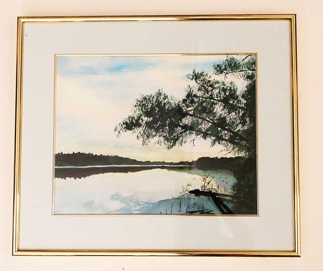 BERNARD L. COHEN, (American), watercolor on paper