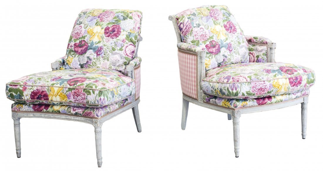 DIRECTOIRE STYLE PAINTED BEECHWOOD DUCHESS BRISEE