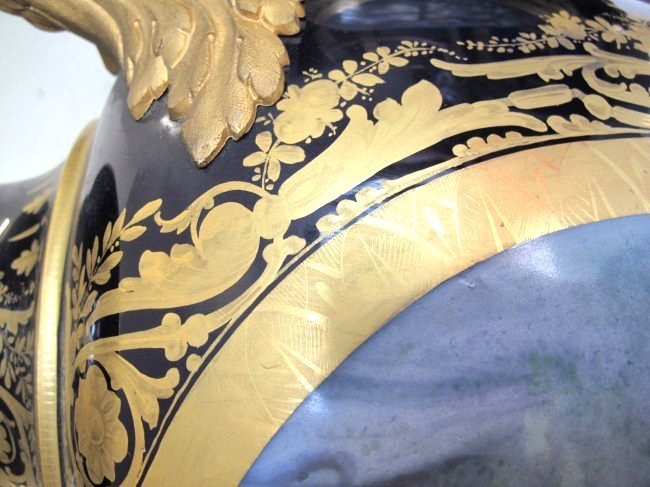 SEVRES STYLE GILT-BRONZE MOUNTED VASES AND COVERS - 10