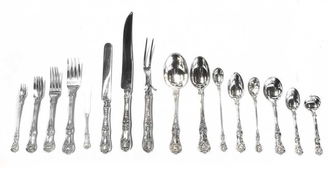 TIFFANY & CO. STERLING SILVER 'ENGLISH KING' FLATWARE