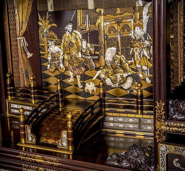RARE AND IMPORTANT MEIJI, JAPANESE LACQUER CABINET - 2