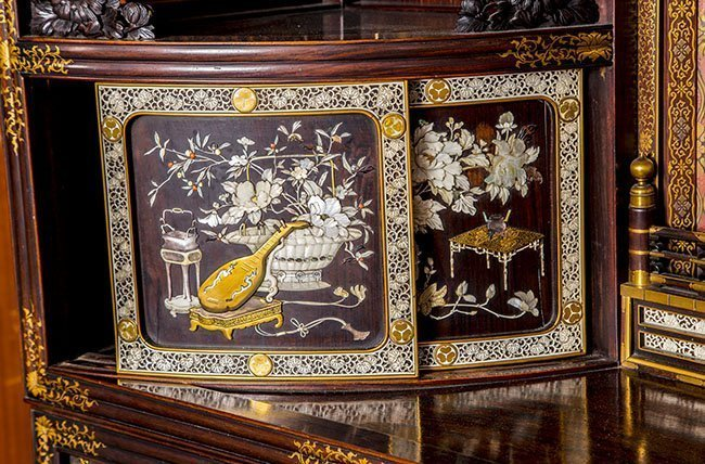 RARE AND IMPORTANT MEIJI, JAPANESE LACQUER CABINET - 5