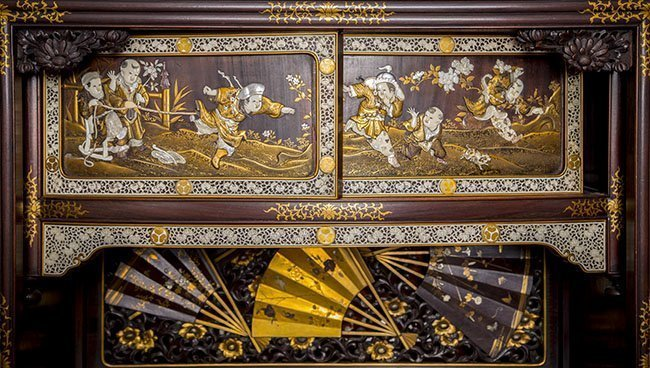 RARE AND IMPORTANT MEIJI, JAPANESE LACQUER CABINET - 6
