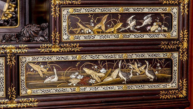 RARE AND IMPORTANT MEIJI, JAPANESE LACQUER CABINET - 8