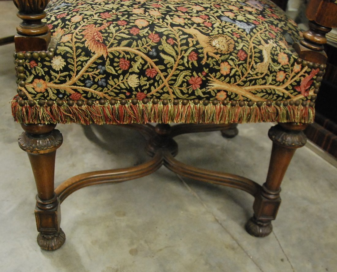 PAIR FRENCH BAROQUE STYLE WALNUT FAUTIUELS - 4