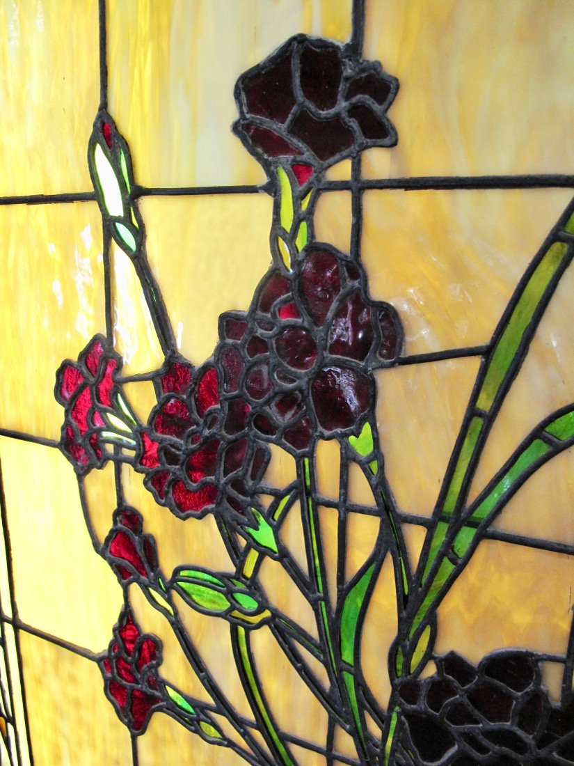 AMERICAN LEADED AND STAINED GLASS WINDOW BOX - 2