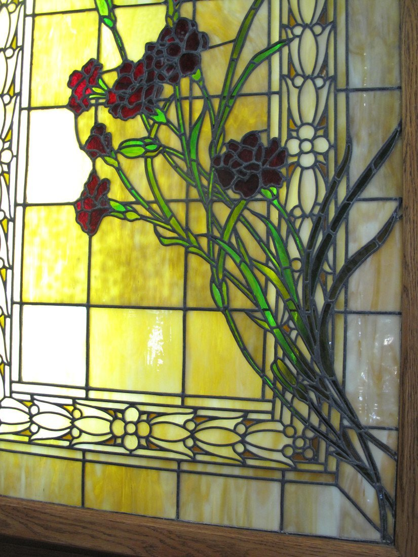 AMERICAN LEADED AND STAINED GLASS WINDOW BOX - 3