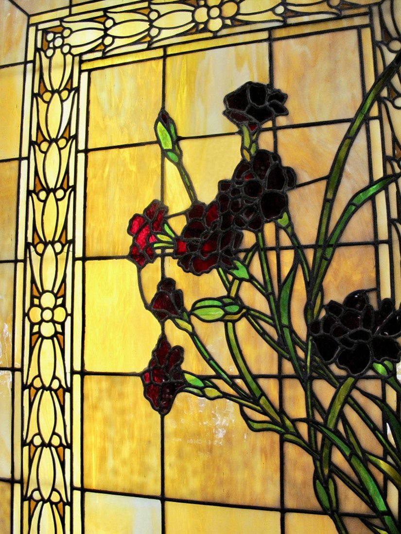 AMERICAN LEADED AND STAINED GLASS WINDOW BOX - 4