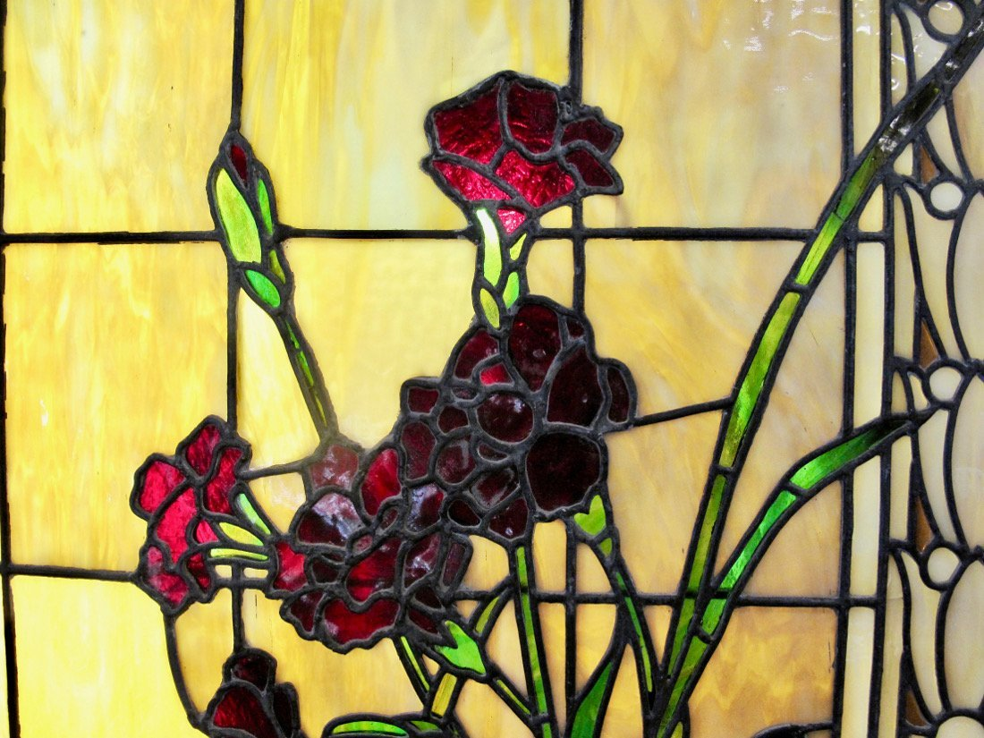 AMERICAN LEADED AND STAINED GLASS WINDOW BOX - 5