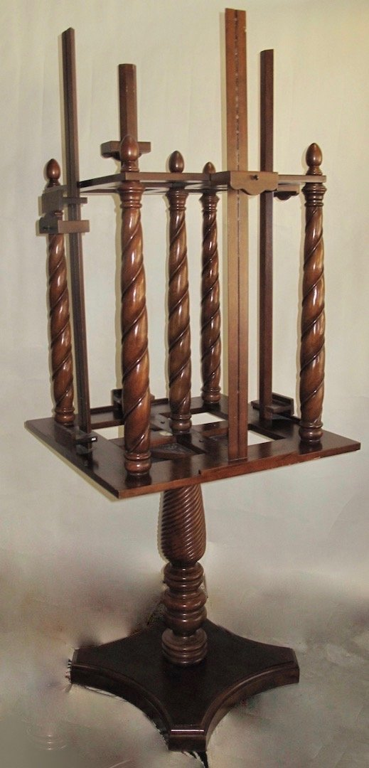 WILLIAM IV STYLE MAHOGANY FOUR-SIDED EASEL