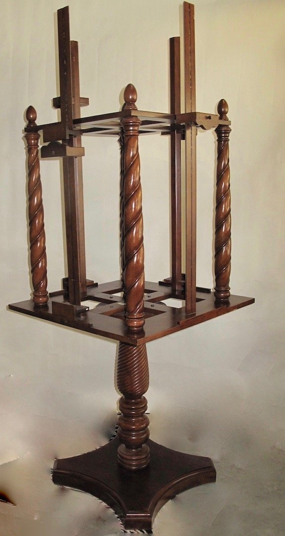 WILLIAM IV STYLE MAHOGANY FOUR-SIDED EASEL - 2