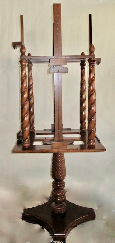 WILLIAM IV STYLE MAHOGANY FOUR-SIDED EASEL - 3