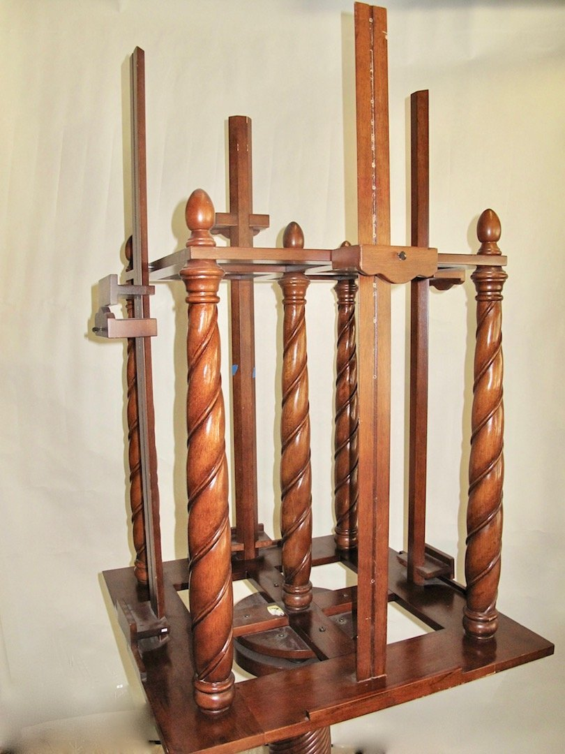 WILLIAM IV STYLE MAHOGANY FOUR-SIDED EASEL - 4
