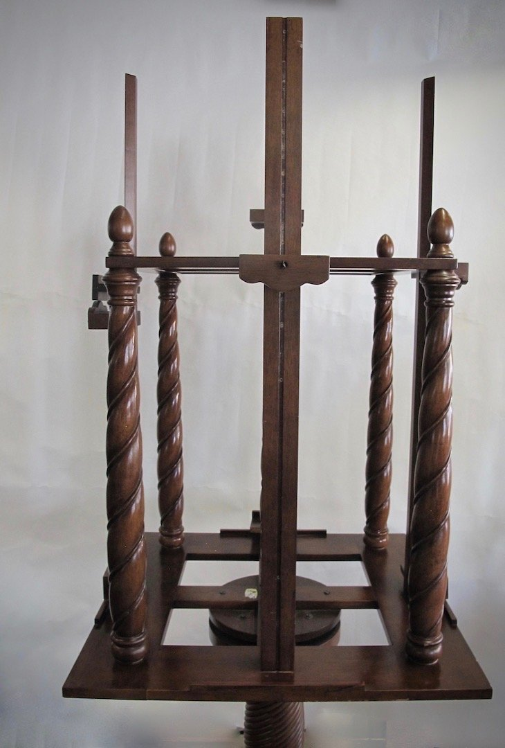 WILLIAM IV STYLE MAHOGANY FOUR-SIDED EASEL - 5