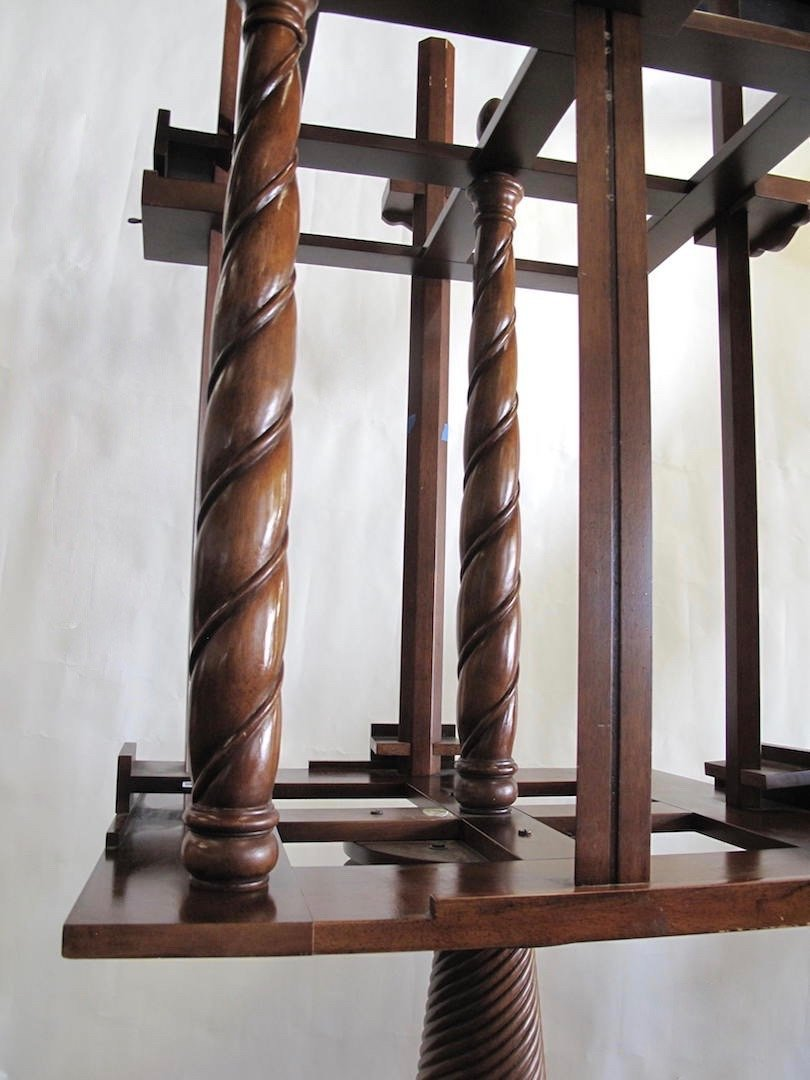WILLIAM IV STYLE MAHOGANY FOUR-SIDED EASEL - 6