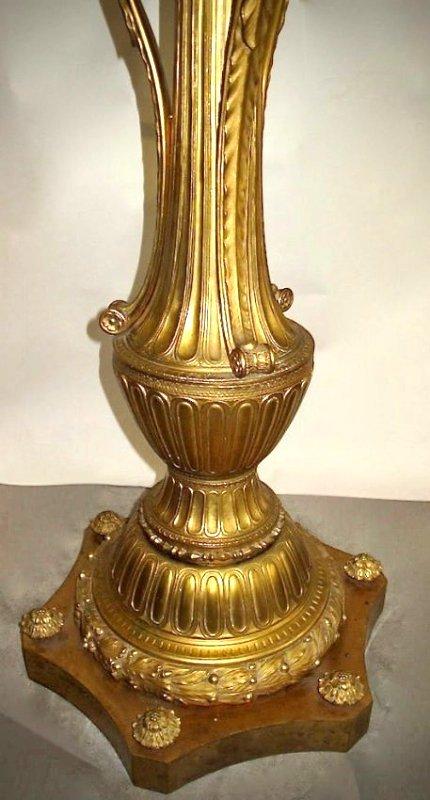 A Large Gilt Bronze Torchère - 4
