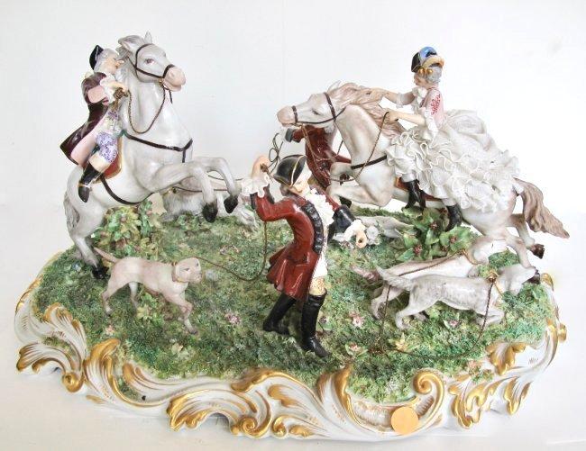 Capodimonte Porcelain Equestrian Group