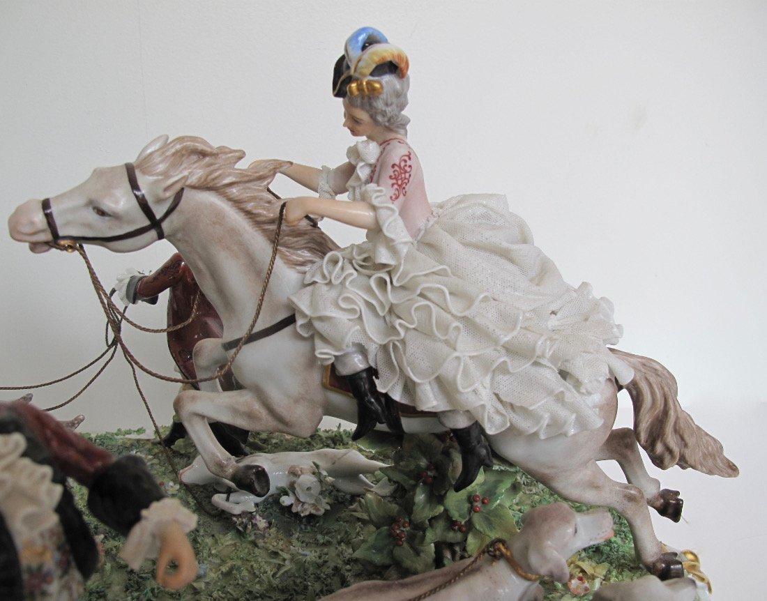 Capodimonte Porcelain Equestrian Group - 3