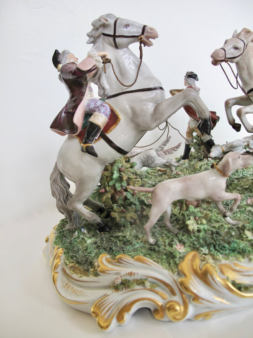 Capodimonte Porcelain Equestrian Group - 4