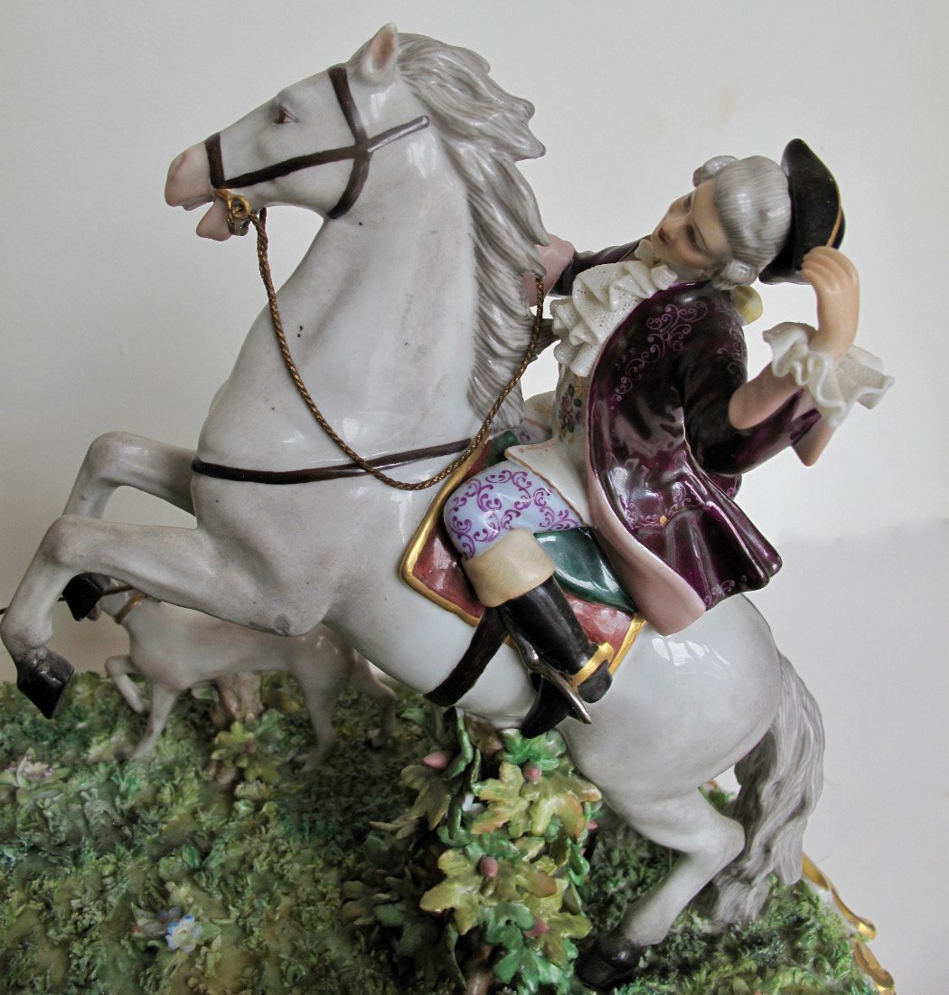 Capodimonte Porcelain Equestrian Group - 6