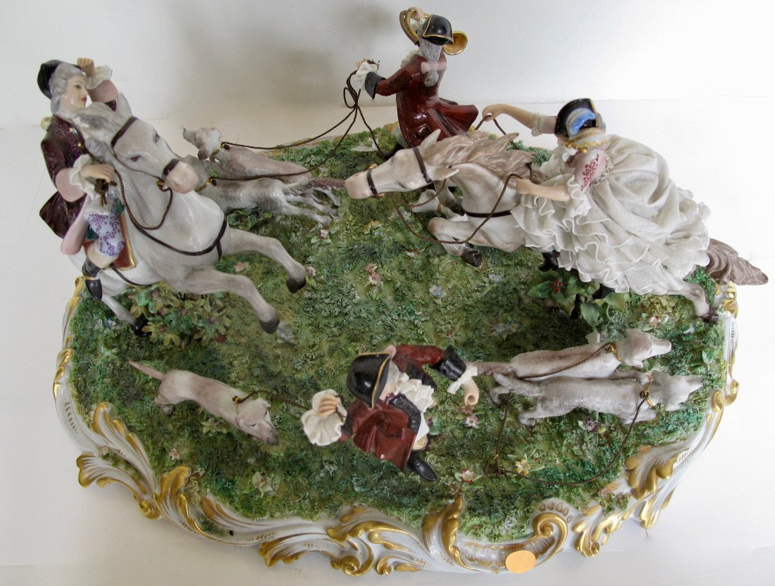 Capodimonte Porcelain Equestrian Group - 8
