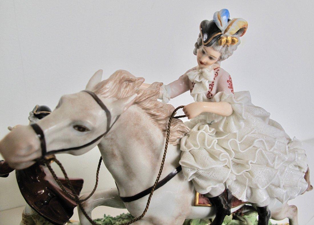 Capodimonte Porcelain Equestrian Group - 9