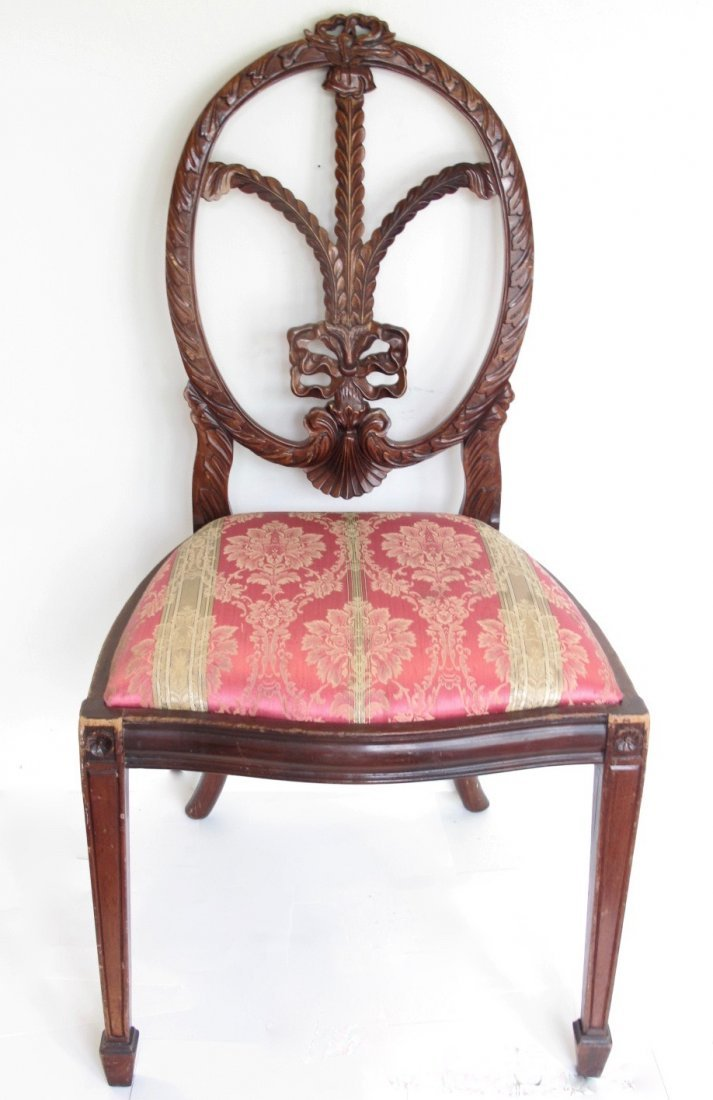 SET OF FOUR GEORGE III STYLE STAINED BEECHWOOD CHAIRS