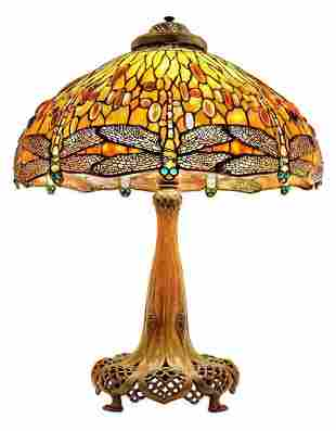 A RARE AND IMPORTANT TIFFANY DRAGONFLY LAMP